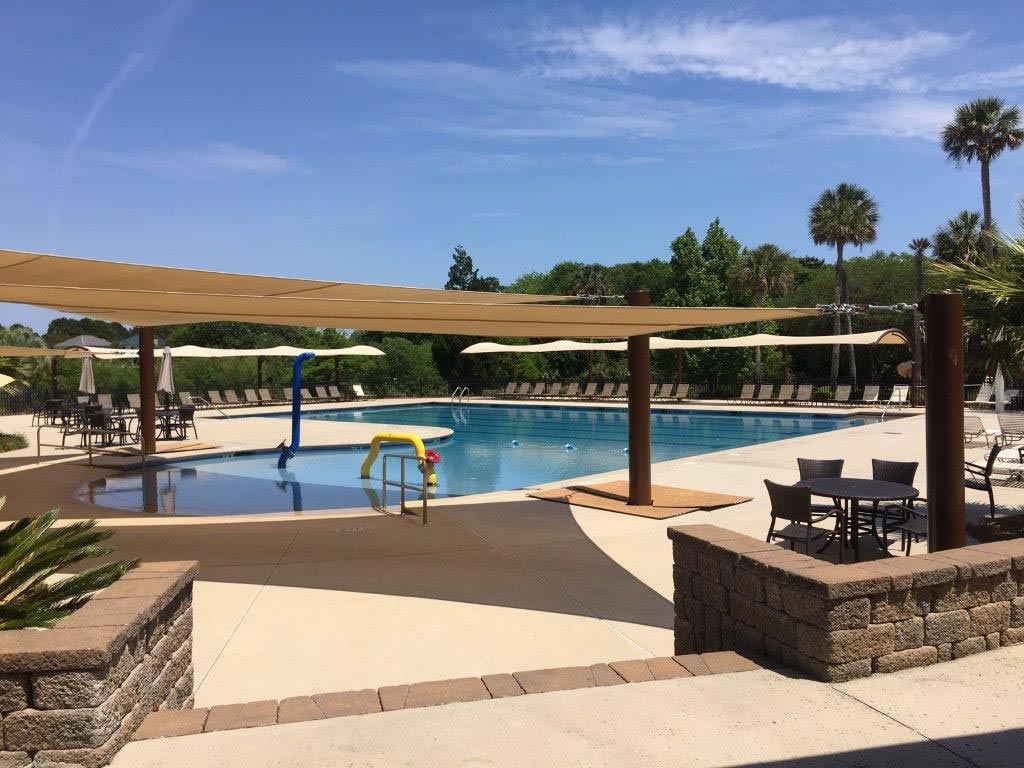 outdoor pool at the SIPOA lake house on seabrook island