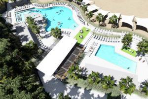 New horizons aerial pool view