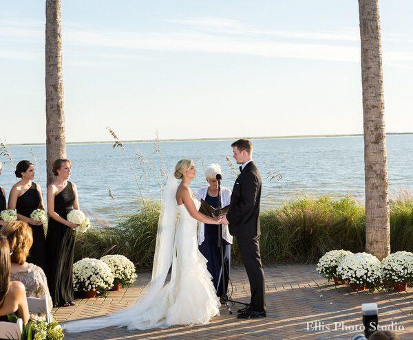wedding on the ocean terrace on seabrook island