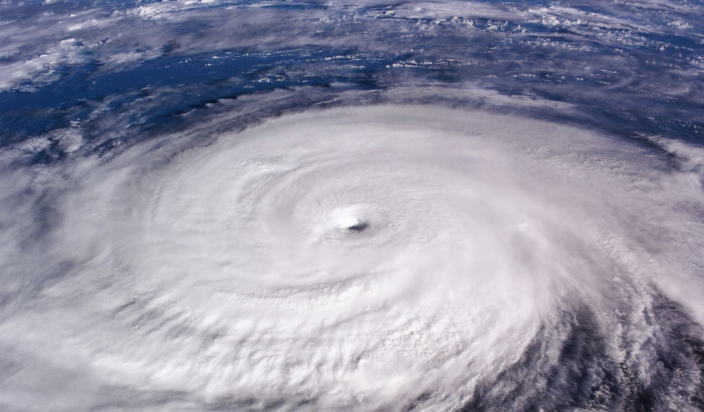 Hurricane as seen from above