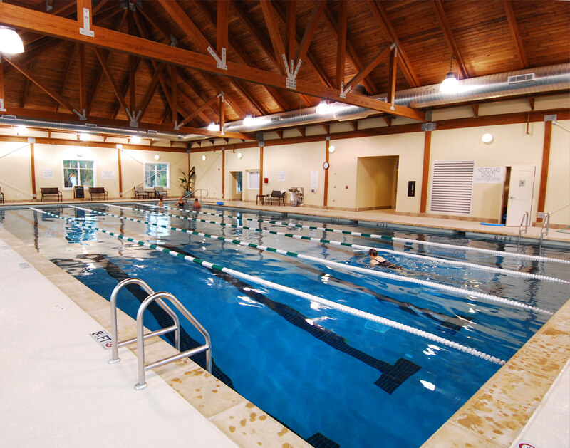 Swimming pool at the Lake House, one of the many club amenities on Seabrook Island