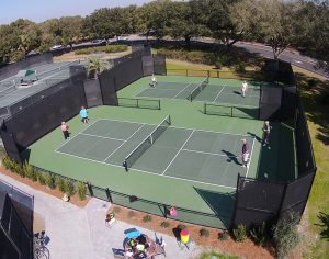 Residents playing pickleball--just one of the many things to do on Seabrook Island, SC