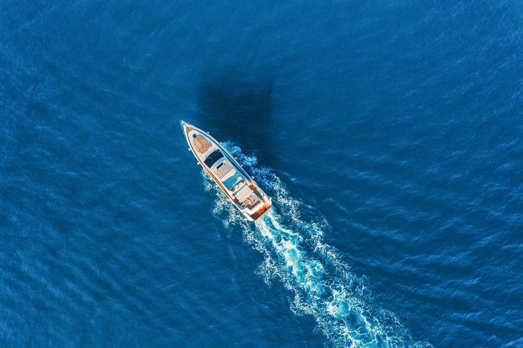 boat leaving the marina