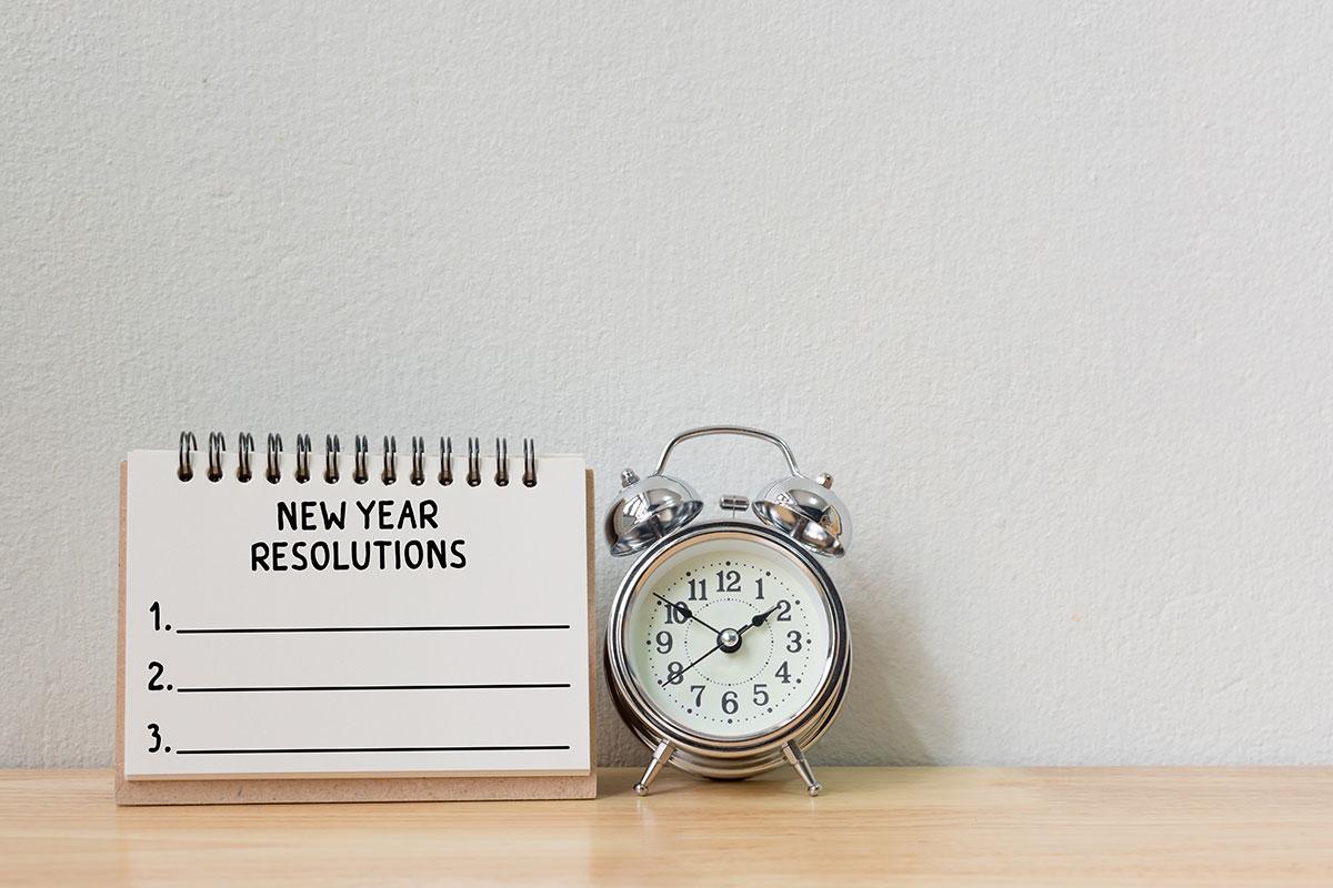 new year's resolutions calendar