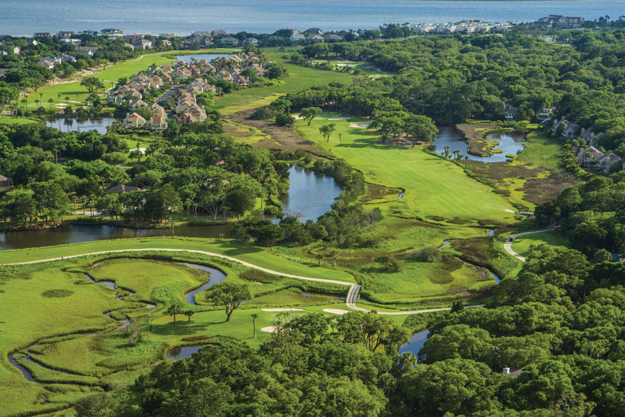 aerial view of seabrook island luxury golf courses