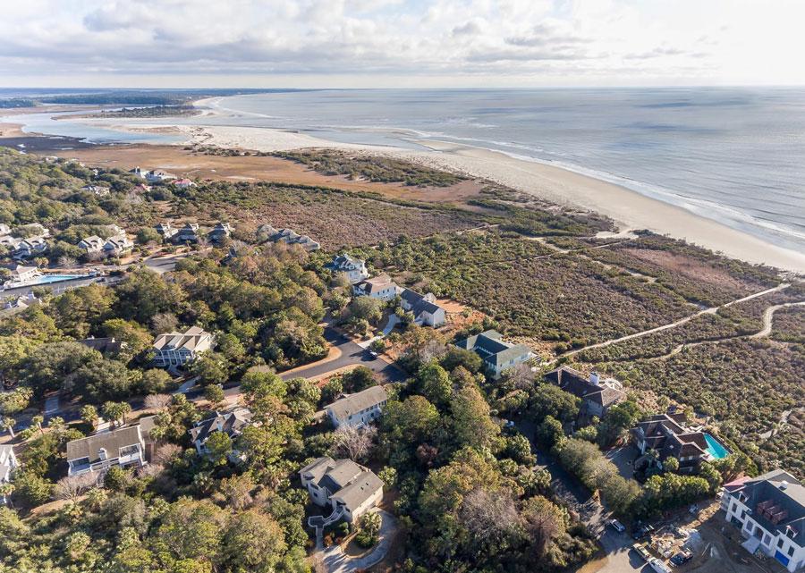 aerial view of Seabrook neighborhood close to beach