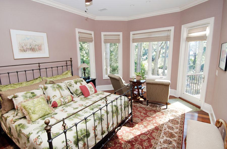 bedroom in seabrook island house