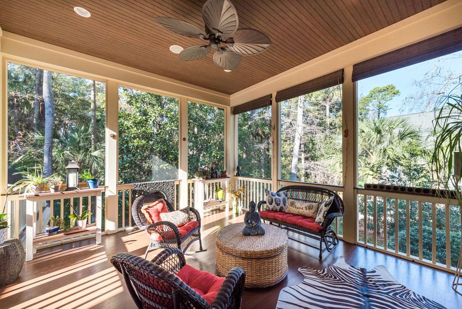 seabrook island home back porch
