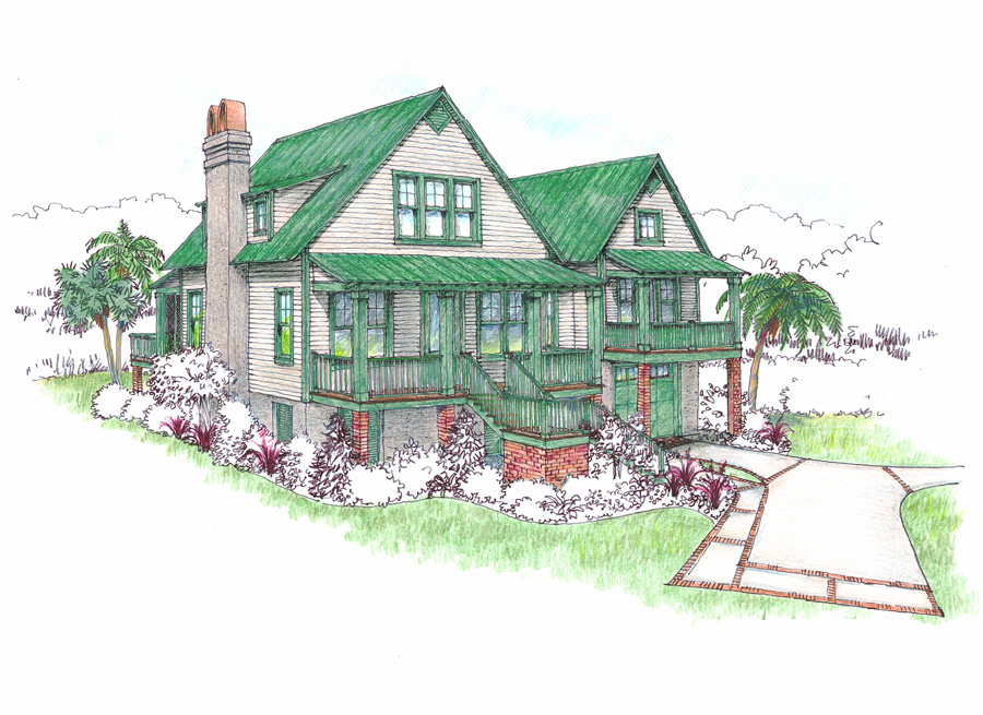 Cottage Cover Rendering