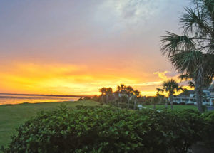 Seabrook-Island-sunset-and-property-with-beachfront-view