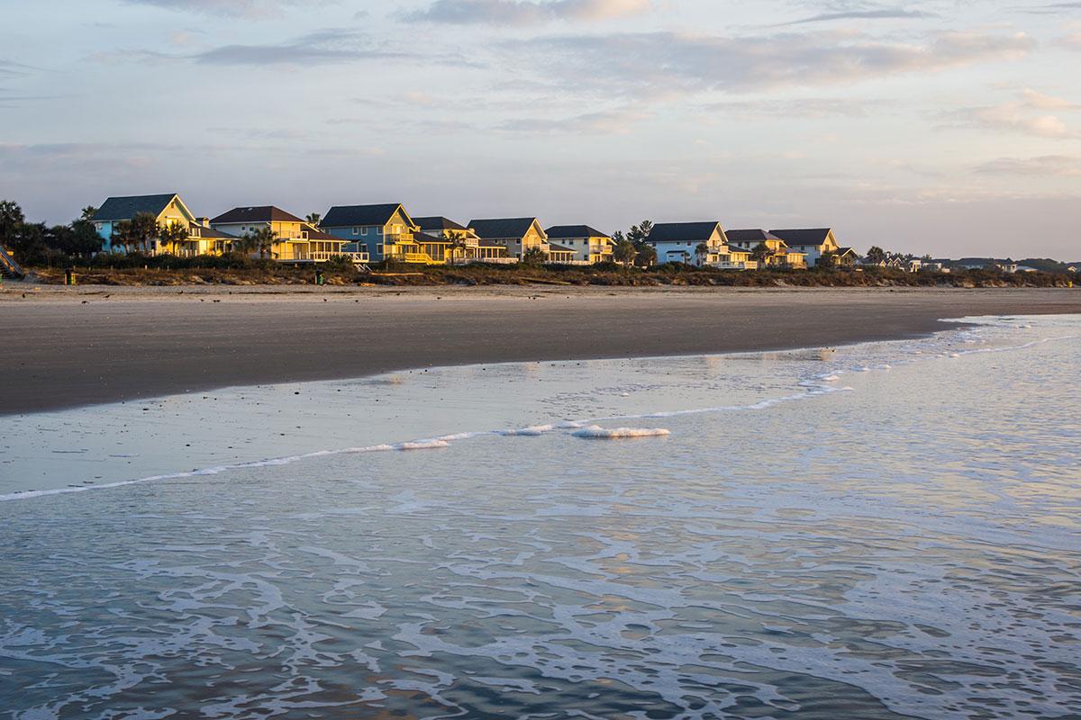 row of beach homes