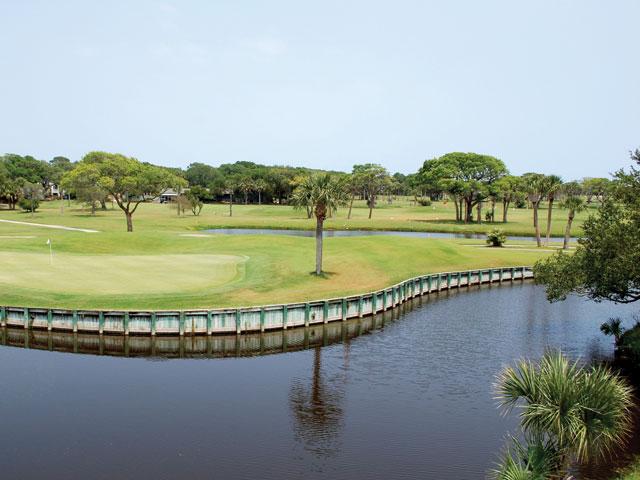 golf course near lake on seabrook