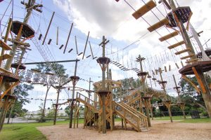 wooden ropes course in Charleston, SC