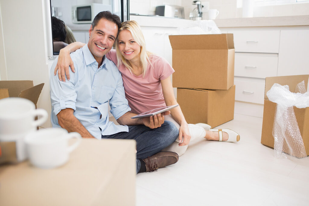 new homeowners unboxing move in new house on seabrook island