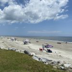 socially distanced seabrook island beach on the fourth of july