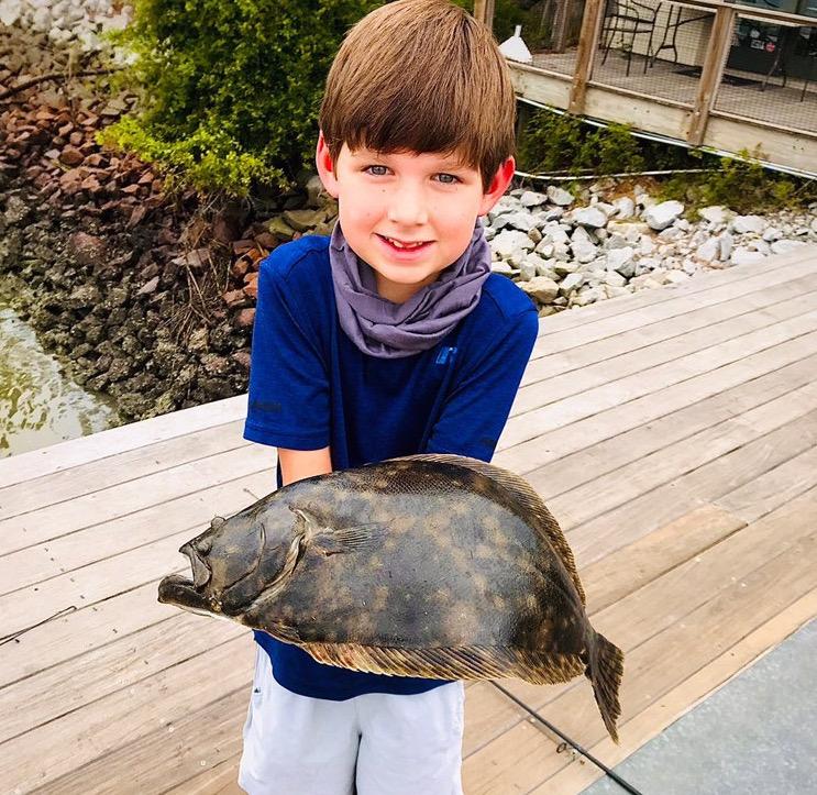 little boy fishing seabrook island