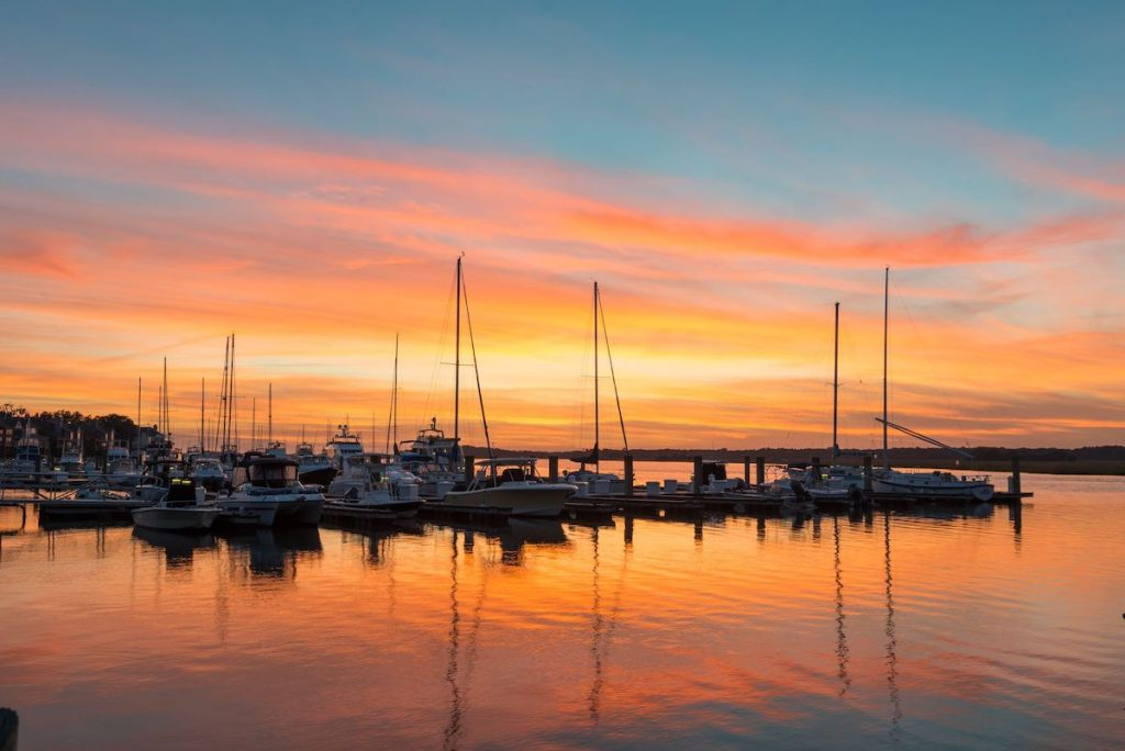 sunset-bohicket-marina