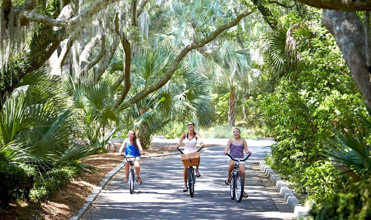 Bike path on Seabrook Island