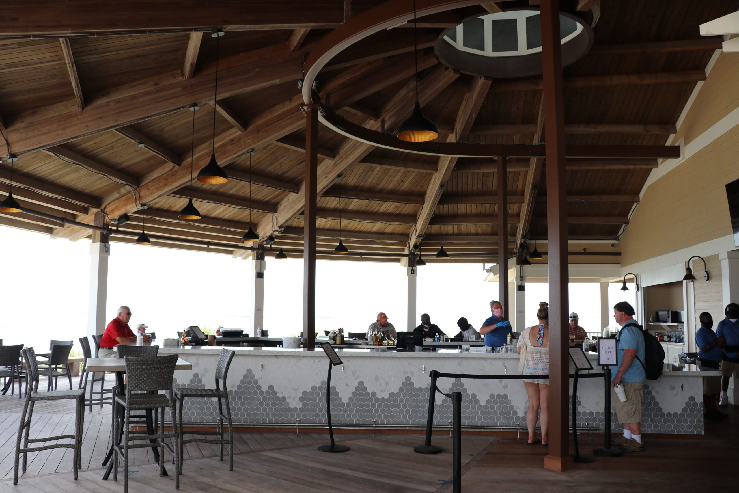 Seabrook Island Club outdoor area bar for food and beverage