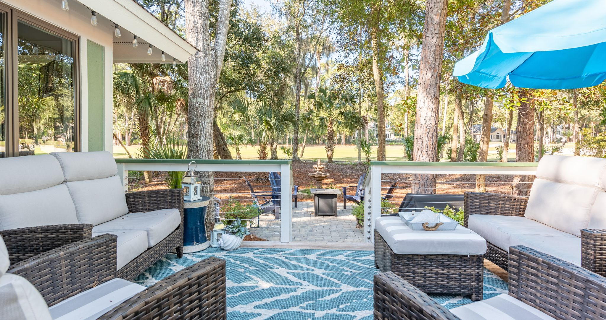 Outdoor space Seabrook Island home